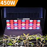 WattShine LED Grow Lights – 450W Growing Lighting, Grow Light Plant Light with On Off Switch Grow Lamp Plant Lamp for Greenhouse and Indoor Plant Grow LED Panel for Tomatoes and Peppers Veg Light