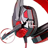 Headphone LESHP Gaming Headset Over-Ear Headphone Game Earphone With Microphone and Game Earphone For PC Laptop Smartphone