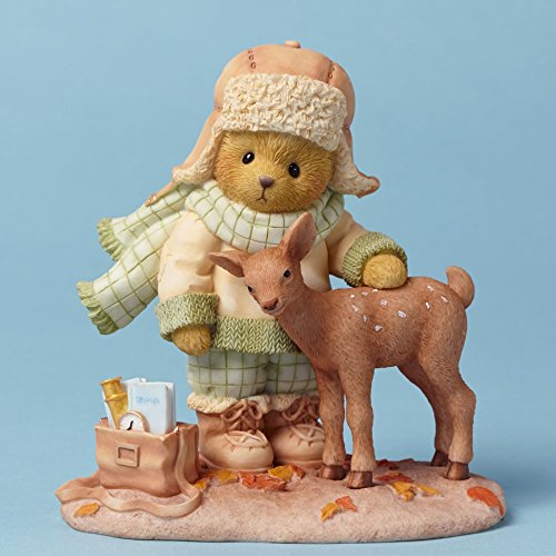 - Cherished Teddies Friends At First Sight Bear with Deer Autumn Figurine