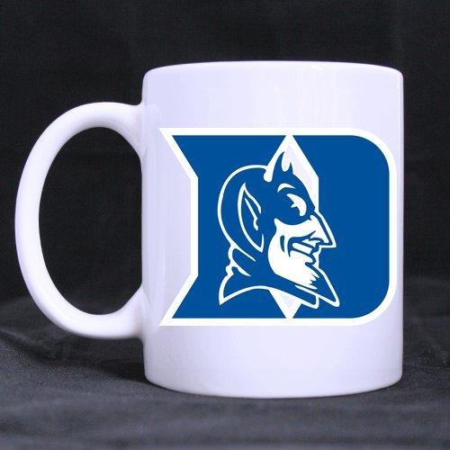 LaHuo NCAA Duke Blue Devils Logo Custom Design White Mug Coffee Tea Cup 11 OZ