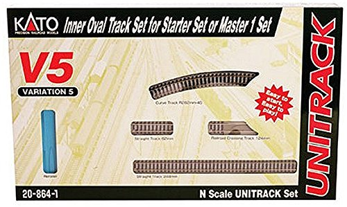 Kato USA Model Train Products V5 UNITRACK Inside Loop Track Set