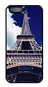 eiffel bottom view PC Case Cover for iPhone 5 and iPhone 5s Black