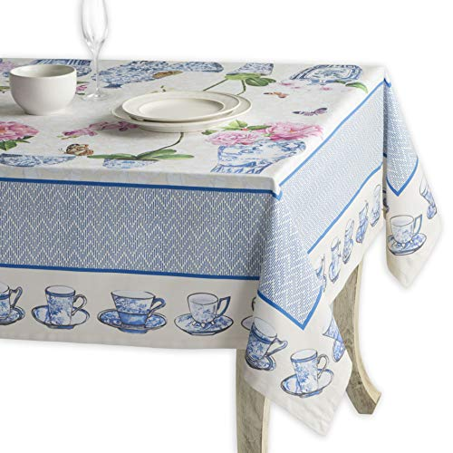 Maison d' Hermine Canton 100% Cotton Tablecloth 54 Inch by 54 Inch (Blue And White Canton)