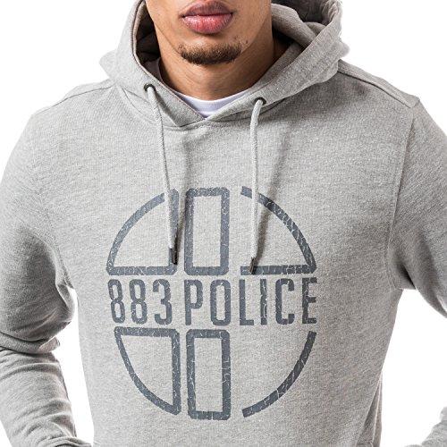 Police Grafito Gris Logo 883 Hombres Hoodie TqdBntqFw