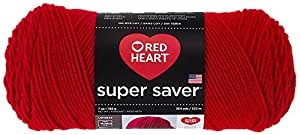 Red Heart  Super Saver Economy Yarn, Cherry Red