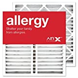 AIRx Filters Allergy 20x20x5 Air Filter MERV 11 AC Furnace Pleated Air Filter Replacement for Honeywell FC35A1019 203721 CF200A1024 Box of 2, Made in the USA