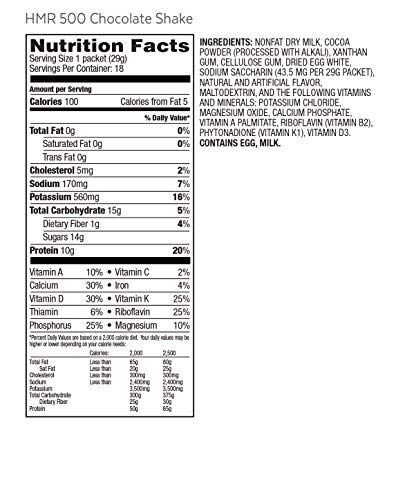 HMR 500 Chocolate Shake Triple Pack, Meal Replacement, 100 Calories, 3 Boxes of 18 Servings by HMR (Image #3)