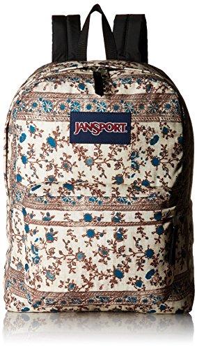 Jansport - Unisex-Adult Black Label Superbreak Backpack Corsair Blue Henna Vine