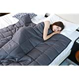 Weighted Blanket by YnM for Kids and Adults Weighted Sensory Blanket for Anxiety, ADHD and Autism(48''x72'')(15 lbs for 140 lbs individual)