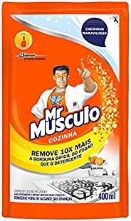 Desengordurante Cozinha Refil Sachet Laranja 400 ml, Mr. Músculo