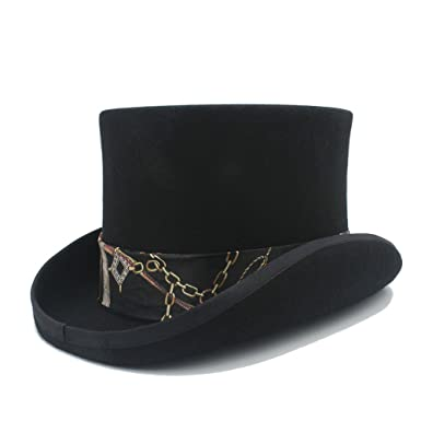 Battle Men Men s Magic Hats Wool MAD Hatter Top Felt Hat Women s Wedding  Bowler Hat Wide 4137543178e