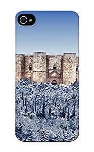 Awesome Design Castel Del Monte Castle Snow Winter Trees Forest Architecture Buildings Hard Case Cover For Iphone 5/5s(gift For Lovers) by heywan