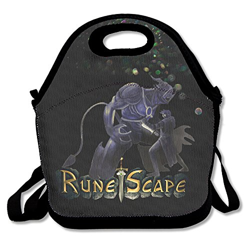 Bakeiy RuneScape Game Lunch Tote Bag Lunch Box Neoprene Tote For Kids And Adults For Travel And Picnic School