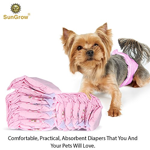 Picture of Disposable Dog Diapers - Suitable for Outdoor Activities and Long Trips - Environmentally pet-Friendly - Pet Tail Hole Design - Anti-Leakage pet Diapers - Rapid Liquid Absorbing Function