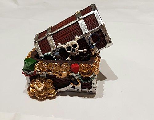 GiftWorks Polyresin Pirate Chest/Box (8 cm x 6 cm x 6 cm)