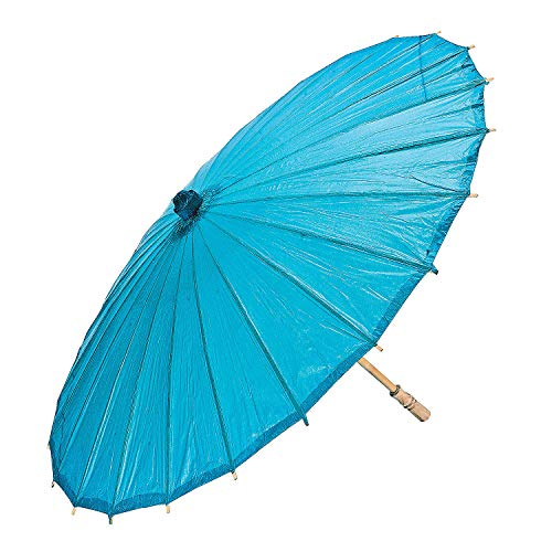 Turquoise Paper Parasol for Wedding