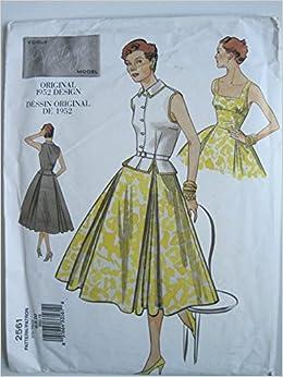 ceb6c416593 Vogue Pattern Vintage Original 1952 Design  2561 Misses  Top