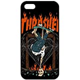Coque pour Iphone 5/ Iphone 5S Thrasher Coque pour Iphone 5/ Iphone 5S Coque pour Iphone 5/ Iphone 5S Tpu Portable Soft Étui Coque pour Coque pour Iphone 5/ Iphone 5S Skateboard Thrasher