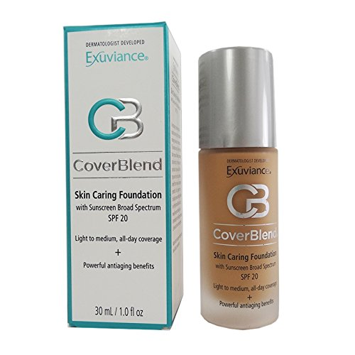 Exuviance CoverBlend Skin Caring Foundations SPF 20 Honey Sand 1 fl oz