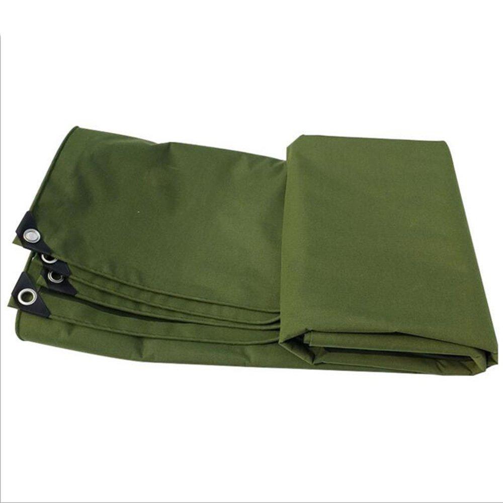 テントの防水シート ヘビーデューティタープカバー - ポリエステル防水性、耐UV性、腐敗性、裂け目および裂け目グロメットと強化エッジ付きターポリン耐水性ターポリン-460g/m²-0.65mm それは広く使用されています (色 : 濃い緑色, サイズ さいず : 4*6m) B07DQF6H64 4*6m|濃い緑色 濃い緑色 4*6m