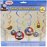 """Amscan Thomas The Tank Birthday Party Swirl Decoration Value Pack, 10.3 x 9.5"""", Multi"""