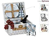 Picnic Plus Boothbay 2 Person Willow Picnic Basket