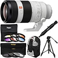 Sony Alpha E-Mount FE 100-400mm f/4.5-5.6 GM OSS Zoom Lens with Backpack + Tripod + 3 UV/CPL/ND8 & 6 Color Filters + Kit