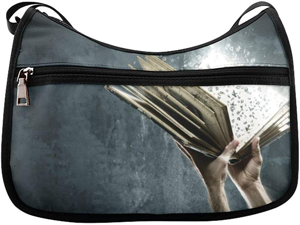 Books With Flash Coatings Messenger Bag Crossbody Bag Large Durable Shoulder School Or Business Bag Oxford Fabric For Mens Womens