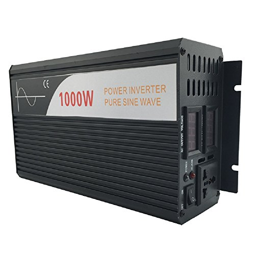 Xijia 1000W (Peak 2000W) Pure Sine Wave power Inverter DC 12V 24V 48V to AC 120V 60HZ Solar converter For Home Use car (DC 24V to AC 120V)