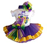Southern Wrag Company USA Baby Girls Mardi Gras Tutu Set Jester Design (12 Months)