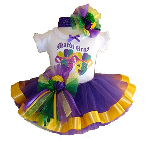 [Southern Wrag Company USA . Baby Girls . Mardi Gras Tutu Set . JESTER Design (24 Months)] (Adult Womens Mardi Gras Queen Costumes)