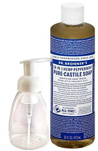 Dr. Bronner's Pure-Castile Liquid Soap - Peppermint 16oz. with Foam Dispensing Bottle 8 oz, Legend S/s Tee