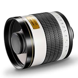 Walimex 15545 - Teleobjetivo para Canon (distancia focal fija 800mm, apertura f/8), negro y blanco