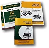 John Deere 420 420c Crawler Tractor Service Manual with Parts Catalog Operators Owners Set Bulldozer Troubleshoot Overhaul Instructions with Maintenance, Adjustments and Exploded Views for Assembly