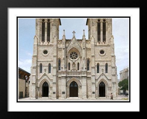 San Fernando Cathedral, San Antonio, Texas 20x23 Framed and Double Matted Photo (Cathedral De San Fernando San Antonio Texas)