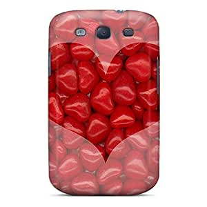 Hot FUjTSRB6615aShlx Case Cover Protector For Galaxy S3- Redhot Heart