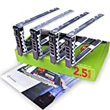 """WorkDone 4-Pack - 2.5"""" Hard Drive Caddy Compatible for Dell PowerEdge Server - T440 T640 R330 R430 T430 R630 T630 R730 R830 R930 R320 R420 & More - Hot-Swap Tray - Easy Setup with Detailed Manual: more info"""
