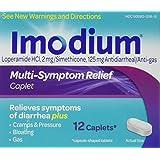 Imodium Multi-symptom Relief Caplet Box, 12-count Caplets