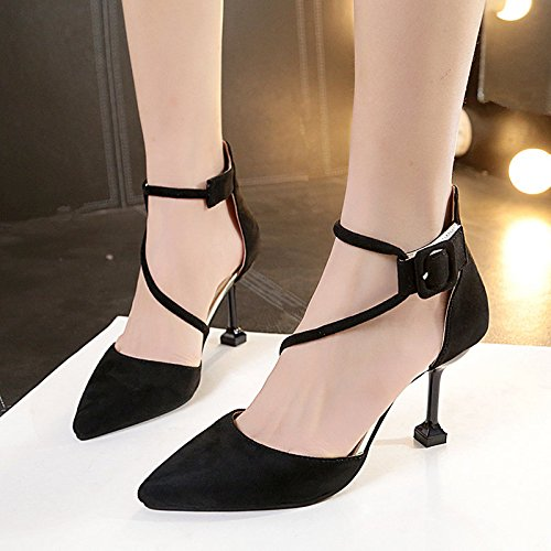 Femeninos Tacón Negro Verano Mate Profesional Singles Negro Zapatos GAOLIM De Y Primavera Fina Zapatos Zapatos O68EqxwT