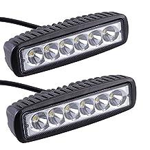 AGPtek®2x6inch 18W Work Light Bar Spot Driving Lights Off-road Fog 4WD Car SUV