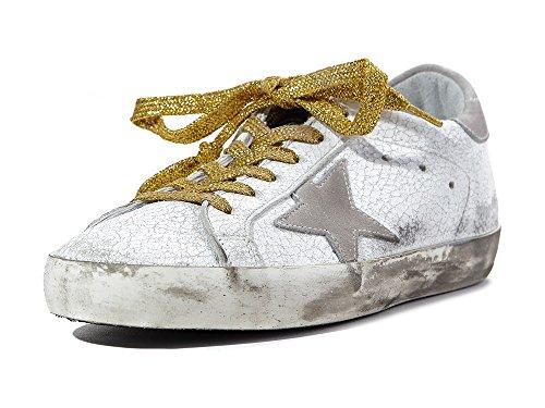 Gouden Gans Deluxe Merk Vrouwen Superster Witte Crash Lederen Lage Top Sneakers G30ws590c14 (whoosso)