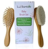 iLuvBamboo Baby Hair Brush Set - Best for Cradle Cap and Detangling - 2 Pack
