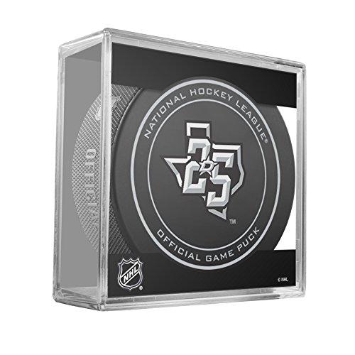 - 2017-18 NHL Dallas Stars 25th Anniversary Game Hockey Puck W/Cube