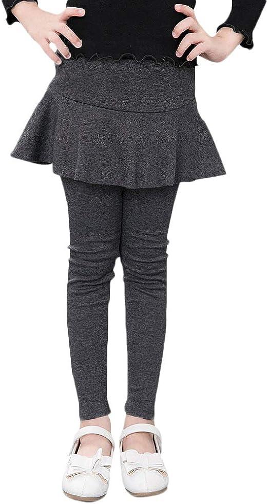 Quge Niña Leggins Leggings Pantalones De Lápiz con Falda De ...