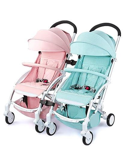 Silla de paseo doble,Cochecito de bebé gemelos Carrito infantil del ...