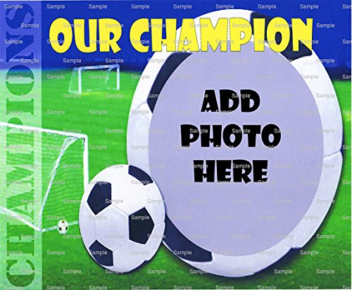 1/2 Sheet - Soccer Champion - Cake Photo Frame - Edible Cake/Cupcake Topper!!! by Art of Eric Gunty