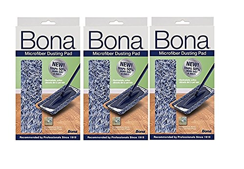 3 PACK Bona Dusting Pad | Designed on Hardwood, Stone, Tile and Laminated Floors | 4