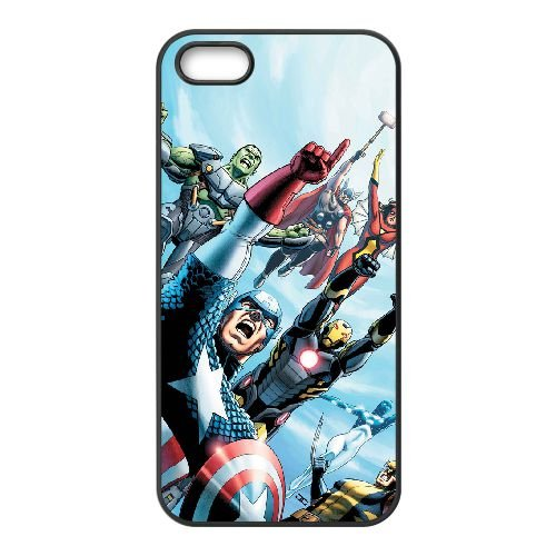Marvel Comic 010 coque iPhone 5 5S cellulaire cas coque de téléphone cas téléphone cellulaire noir couvercle EOKXLLNCD25843