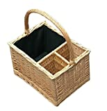 2 Bottle with Lining Picnic Basket