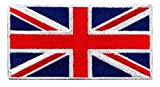 union jack patch - British Union Jack Embroidered Patch England Flag UK Great Britain Iron-On Emblem